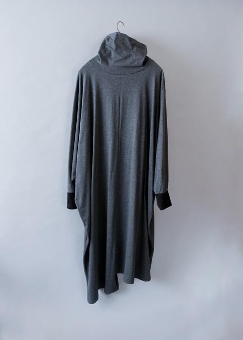 《michirico 2019AW》High neck long one piece / dark gray / S(womens)