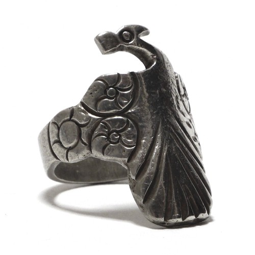 Vintage Sterling Silver Mexican Peacock Ring