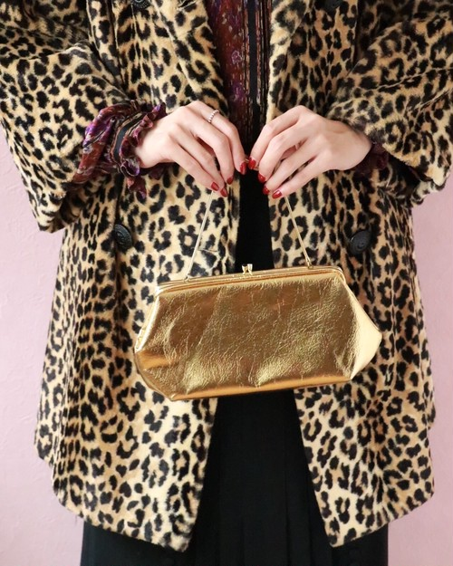 60's vintage gold party bag