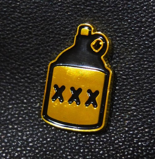 "MASONS OF KENYA""L'IL BOOZER ENAMEL PIN"""