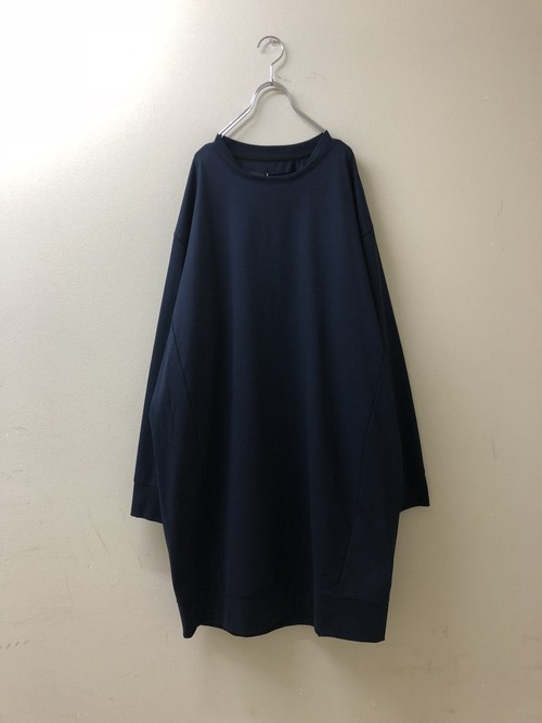 SALE 30%OFF【my beautiful landlet】 big sweat long t→NAVY