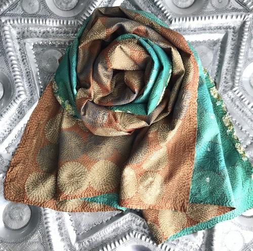 Circle Stitch Silk Stole