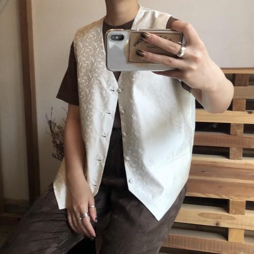 Flower pattern gloss vest