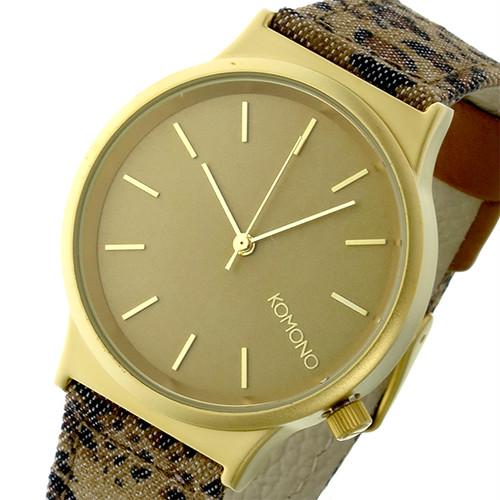 コモノ KOMONO Wizard Print-Leopard クオーツ レディース 腕時計 KOM-W1802 ゴールド ゴールド