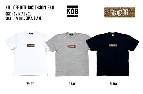 KILL OFF BITE BOX T-shirt BRN