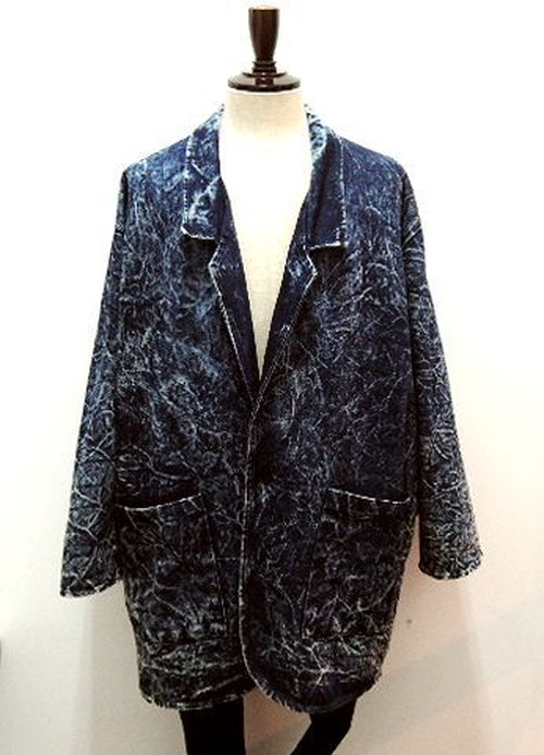 "80~90's ""Christie of California"" Denim Long Tailored Jacket"