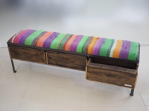 品番UNR3-103  3drawer ottoman[nerrow/chindy rug]