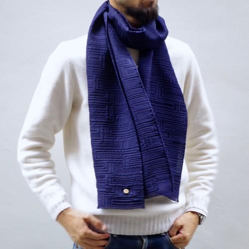 フィルタンゴストール  幾何柄 ネイビー 京都 丹後の絹織物