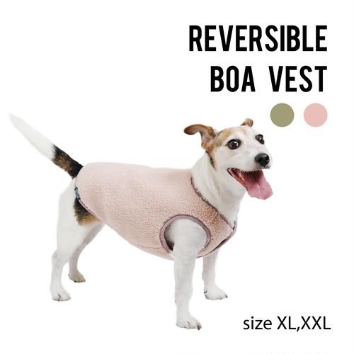 REVERSIBLE BOA VESTリバーシブルボアベスト
