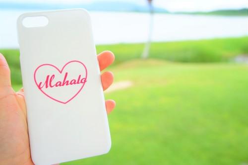 LIFE is life Mahaloハートスマホケース iPhone Plus、Android L用