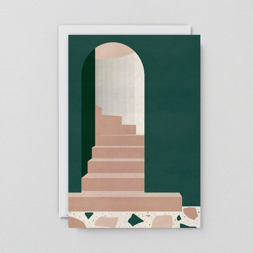 WRAP / GREEN DOORWAY ART CARD -Artwork by Charlotte Taylor- アートカード