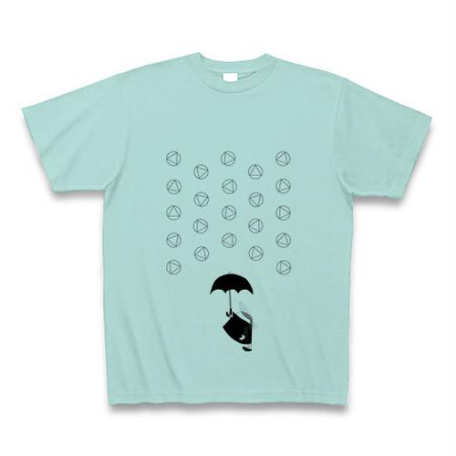 理系Tシャツ【天気記号/あられ/アクア黒】-(Scien-T'st)Weather Symbol/SnowPellets/Aqua-Black