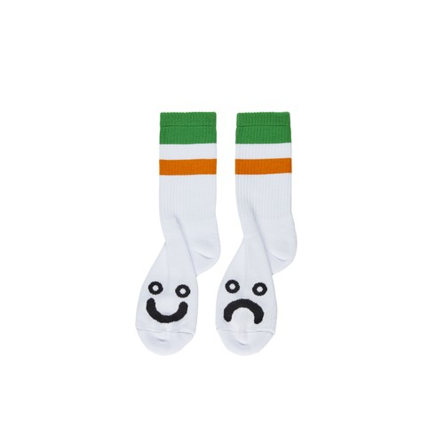 POLAR SKATE CO / HAPPY SAD SOCKS -GREEN-
