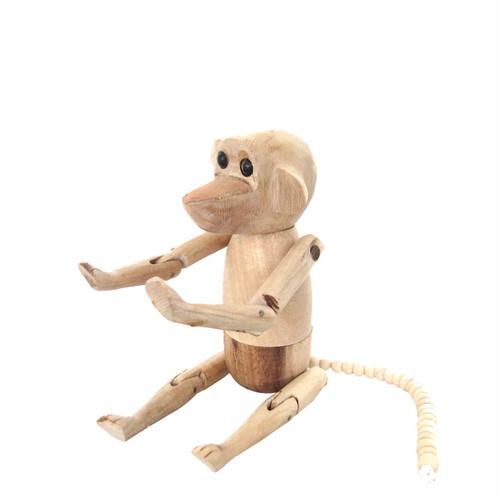 さるの木製人形 / Wooden Monkey Doll