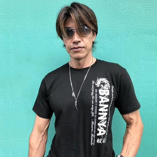 "BANNYA-般""若-Tシャツ(丸ネック黒)"