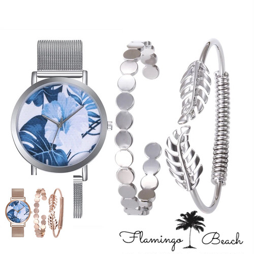 【FlamingoBeach】flower Watch set