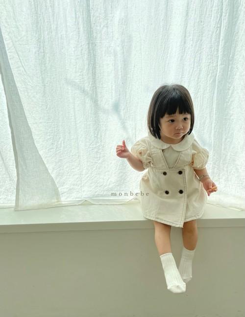 【予約販売】denim suspender-skirt〈monbebe〉