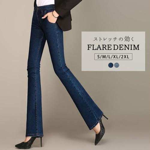 フレアデニム/pants369