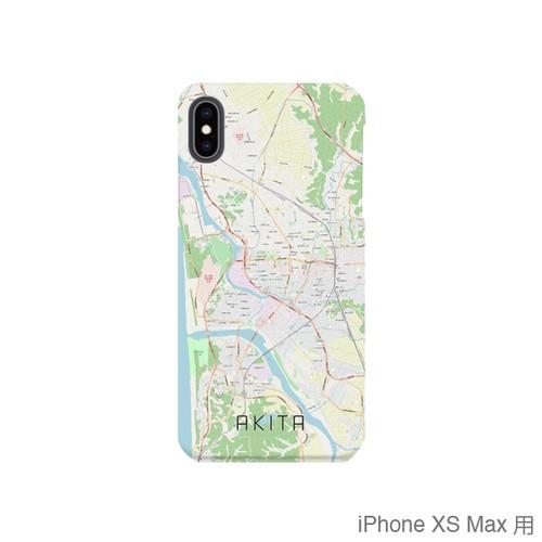 【秋田】地図柄iPhoneケース(バックカバータイプ・ナチュラル)