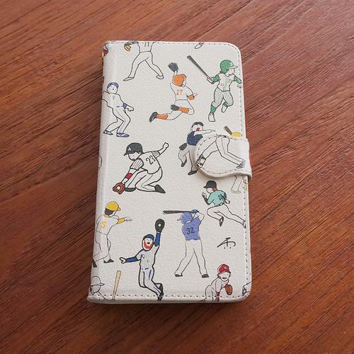 《野球と暮らす》手帳型スマホケース