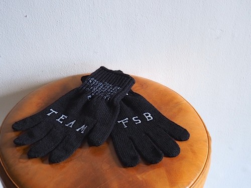 FUJITOSKATEBOARDING Knit Glove Black,Gray