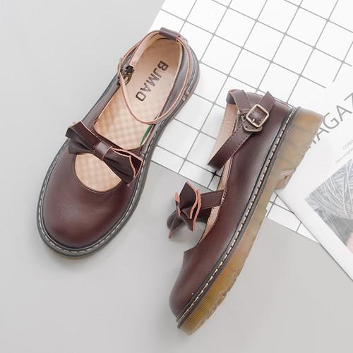 ロリータ靴 ローファー リボン ストラップ かわいい フェミニン ガーリー 韓国