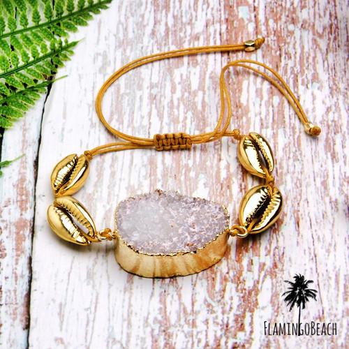 【FlamingoBeach】stone shell bracelet ブレスレット