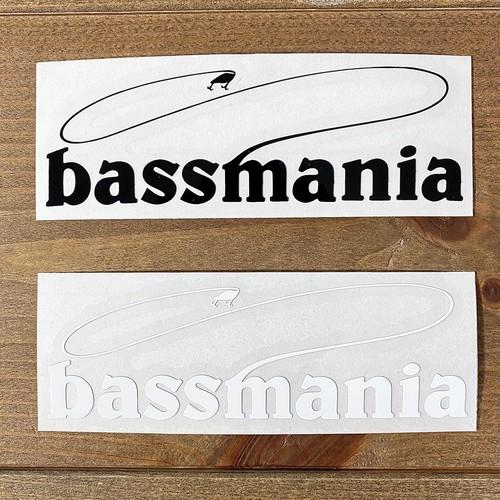 bassmaniaロゴカッティングシート S  [H3.1×W9.9]
