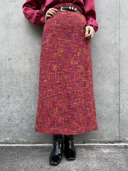 (TOYO) mulch color long knit skirt