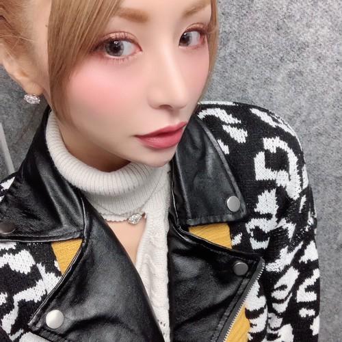 レオパードニットオーバーラップライダースジャケット/2色展開/ワンサイズ/2019AW