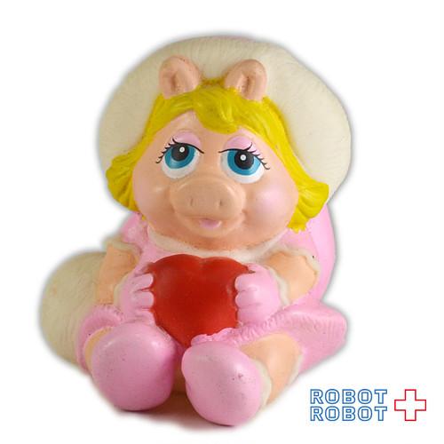 ベビー・ミスピギー ハート持ち ソフビ人形  1989 セサミストリート