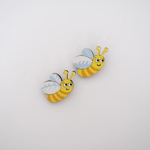樺の木ブローチ【ハチ】