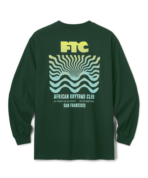FTC / AFRICAN RTYHMS L/S TEE -FOREST GREEN-