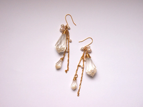 crystal pierced earrings [C]