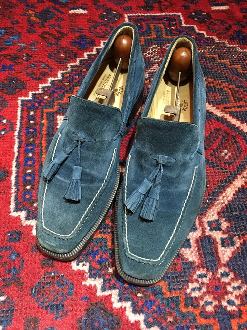 .SUTOR MANTELLASSI SUEDE LEATHER TUSSEL LOAFER MADE IN ITALY/ストールマンテラッシスウェードレザータッセルローファー 2000000031002
