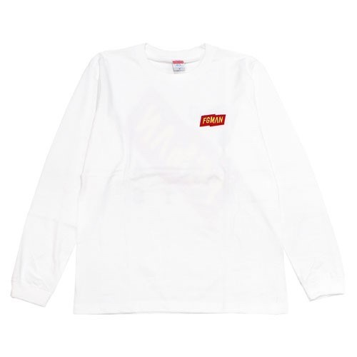 """FGMAN"" Embroidered L/S White"