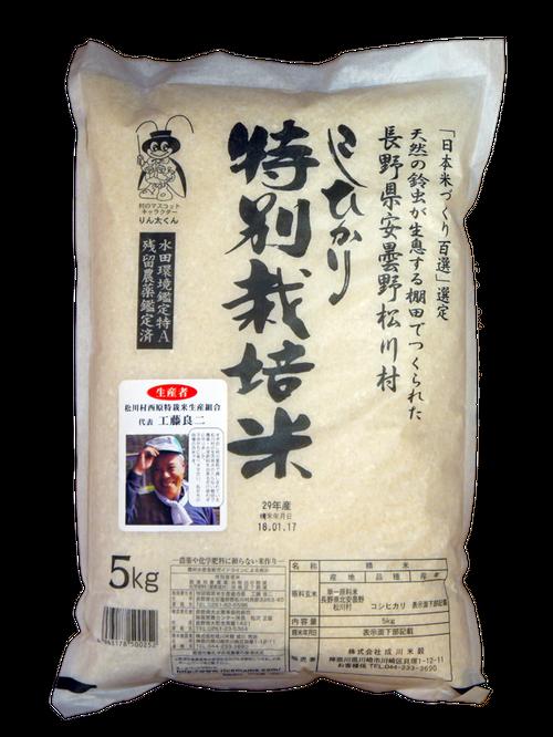 30年産長野県松川村こしひかり(白米/玄米 5gk)
