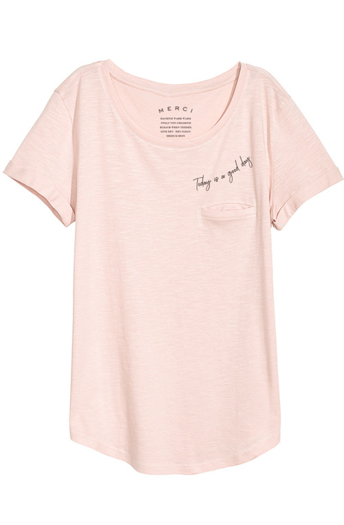 Whisper Pocket Tee - Vintage Pink