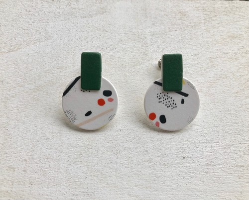 ilocami GRAPHIC丸PIERCE/EARRING【GREEN】