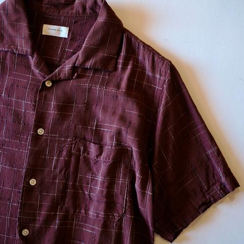 【SPINNER BAIT】rayon kasuri open collar s/s shirt