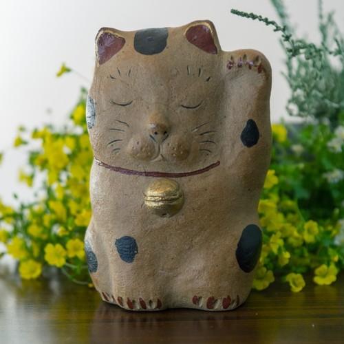 招き猫(茶)