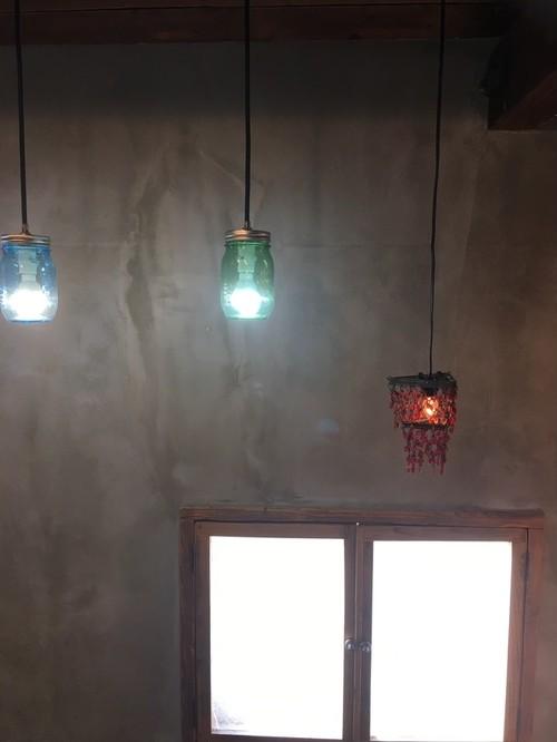 数量限定 ボトル コップ ランプ ライト アメリカ ボトルランプ ペンダントコード ボトルタイプ クリアー(透明)