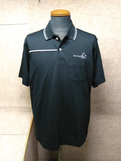 マンシングウェア メンズ ポロシャツ L ブラック y1402j