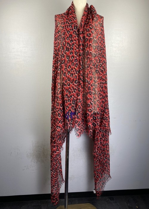 .LOUIS VUITTON LEOPARD PATTERNED CASHMERE SILK LARGE SIZE SHAWL MADE IN ITALY/ルイヴィトンレオパード柄カシミヤシルク大判ショール 2000000043098