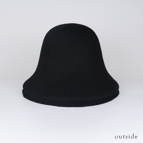 BE-L1 Wool Layer Bell Hat - BLK