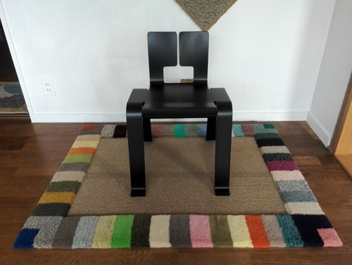 Chair Rug  Colourful cobra 椅子絨毯イロトリドリ蛇