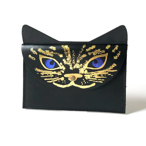 "Ark Colour Design ""CAT CLUTCH"" 本革 財布 クラッチ"