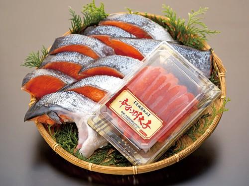 銀鮭半身と明太子のおいしさくらべセット(0014)
