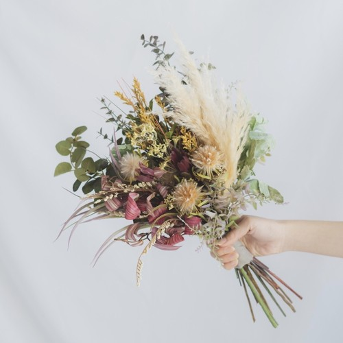 【Rental3泊4日】dry shabby bouquet & boutonniere