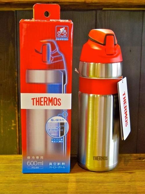 THERMOS (サーモス) 真空断熱ストローボトル FFQ-600 レッド